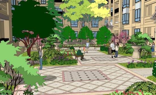 小区组团绿地设计